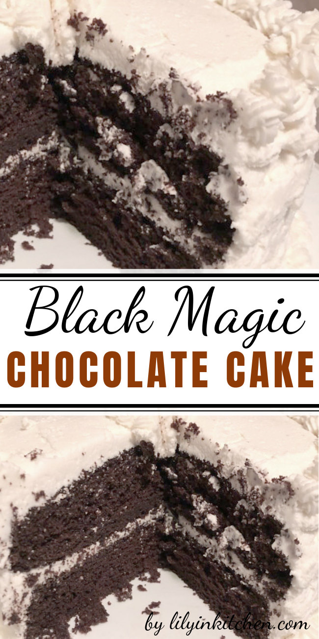 Moist, delicious and rich black magic chocolate cake perfect for any occasion!  When it comes to chocolate cake i think this one is king. #chocolaterecipe #cakerecipe #cakechocolate #recipecake #blackmagiecakerecipe #cakechocolaterecipe #chocolatecake