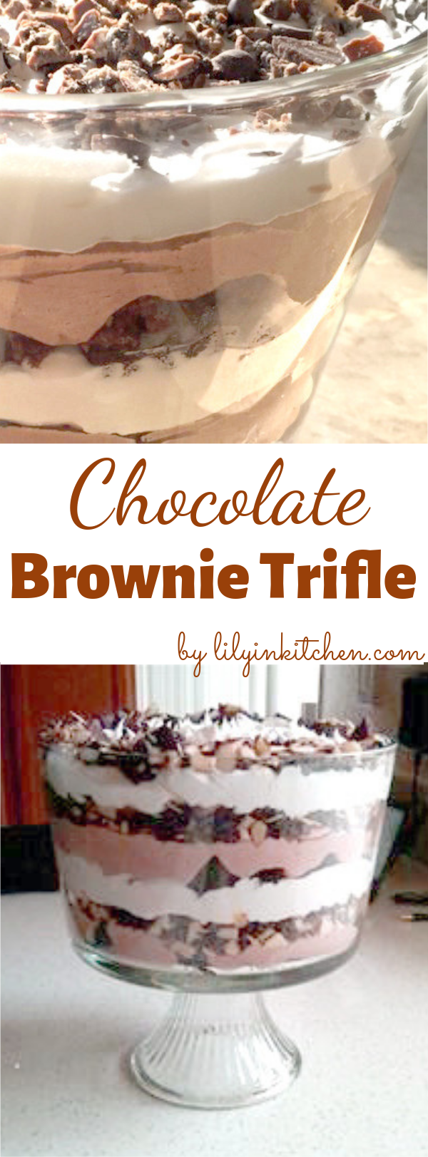 This rich and delicious Chocolate Brownie Trifle recipe is so good! Easy to assemble, it  will satisfy all your chocolate cravings. It features rich, chocolate pudding and chocolate brownies. #triplechocolatetrifle #chocolatetrifle #chocolate #triplechocolate #chocolaterecipe #chocolatedessert #dessert #trifle #trifledessert #recipes #recipe #food #cooking #RecipeIdeas