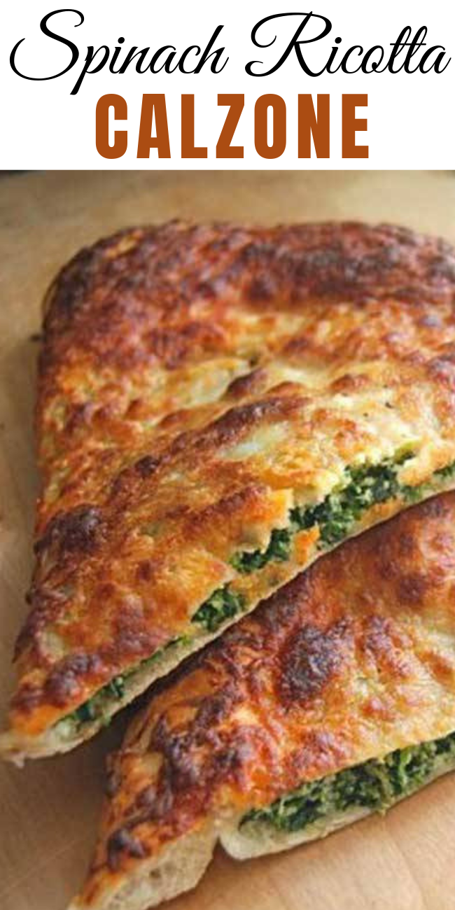 A calzone is thin-crust pizza folded before you bake it — rather than after! If you love pizza (and who doesn't?), you will love these calzones!  #Calzone #Ricotta #Vegetarians #recipe