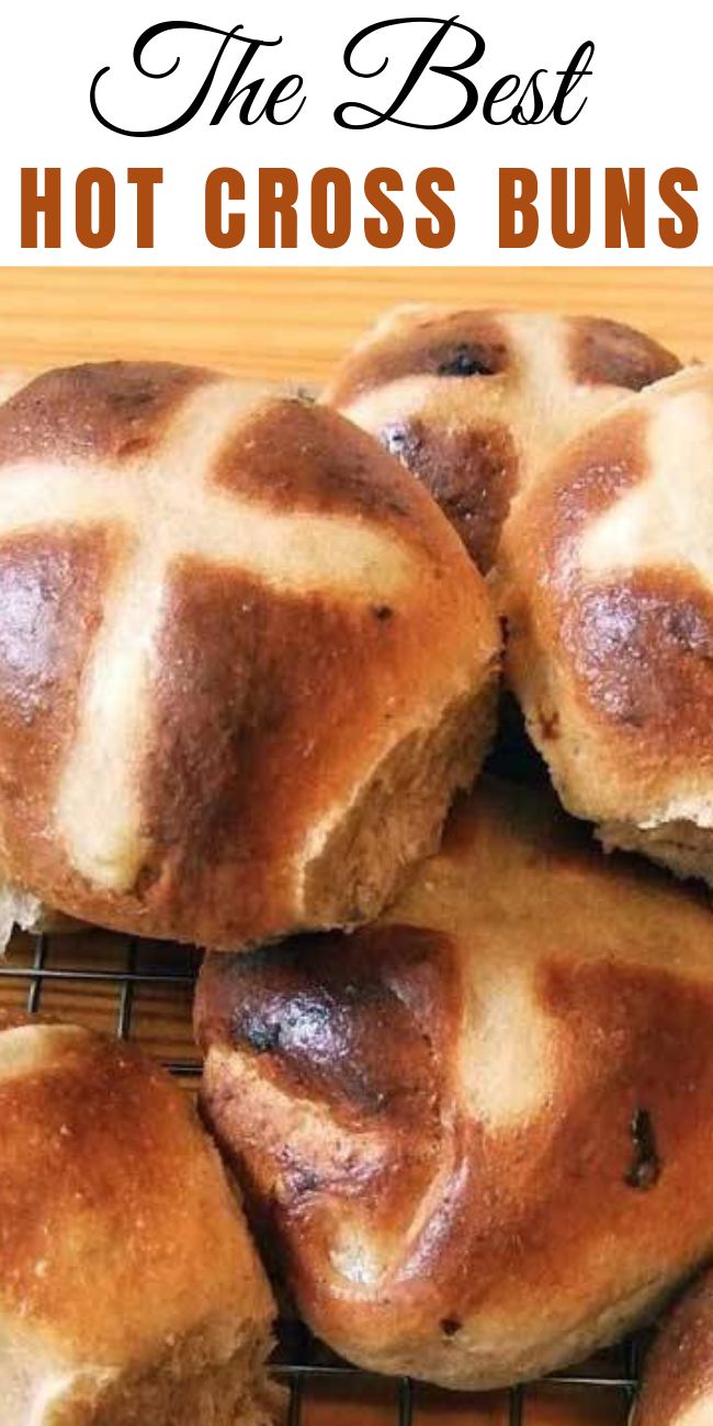 "They say that if you share a hot cross bun with someone your friendship throughout the coming year is ensured, especially if you say ""half for you and half for me, between us two shall goodwill be."" #buns #hotcrossbuns #easter #easterrecipes  #breadrecipes"