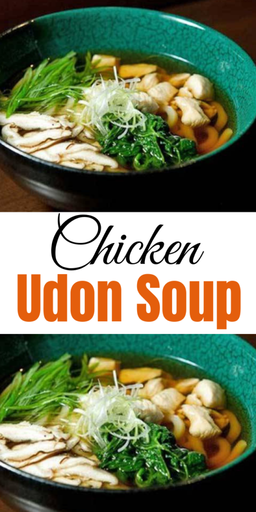 Chicken Udon Soup - This Japanese take on chicken noodle soup is a menu favorite of New York and Boston's Haru restaurant and sushi bar. It takes less than 30 minutes to prepare, and you'll find its ingredients (such as mirin, udon, sesame oil) at a specialty asian market, or in the international aisle at your grocery store. #chickenundonsoup #chickenundonbowls