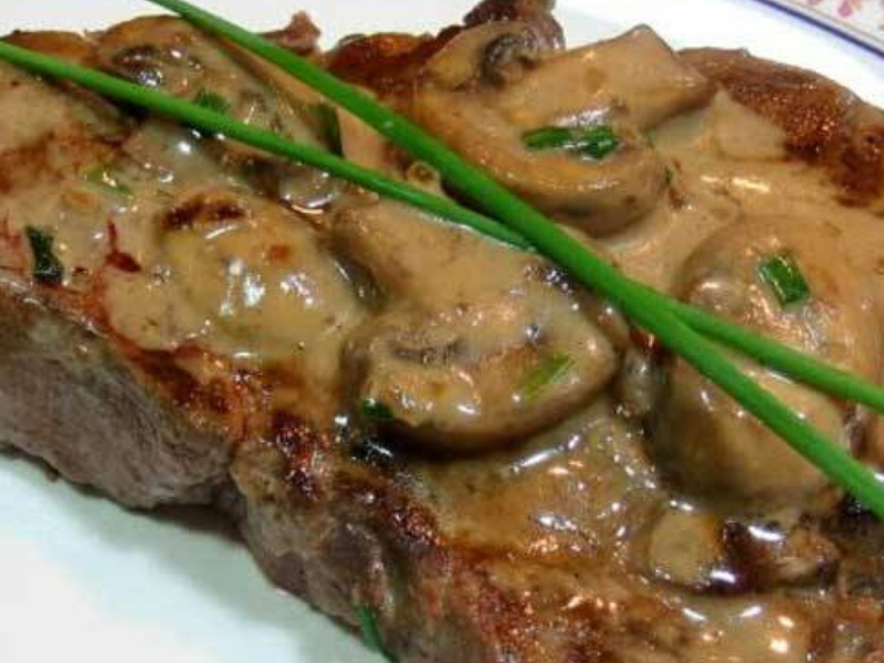 Classic French Flambe Steak Diane