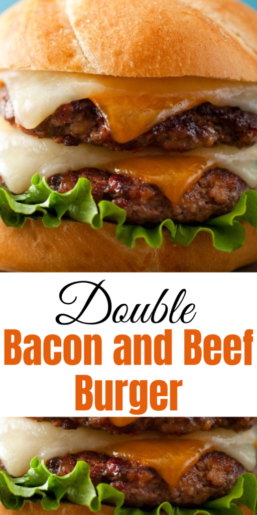 Double Bacon and Beef Burger What's next for our burger obsession.. Of course.. it's ground bacon!! Enter the recipe for the Double Bacon and Beef Burger. #cheeseburger #grilling #bacon #burgerrecipes