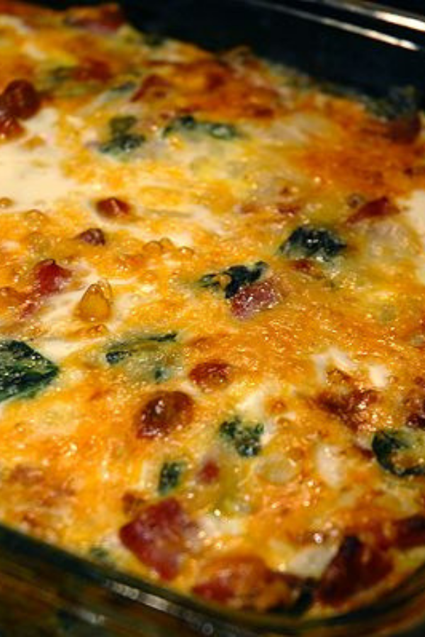 Egg Ham and Spinach Hashbrown Casserole - Recipe for Egg Ham and Spinach Hashbrown Casserole – Let us not forget, though, the mighty breakfast casserole! So many things you can add, and all delicious. #fortheloveofham #breakfast #casserole #hashbrowncasserole