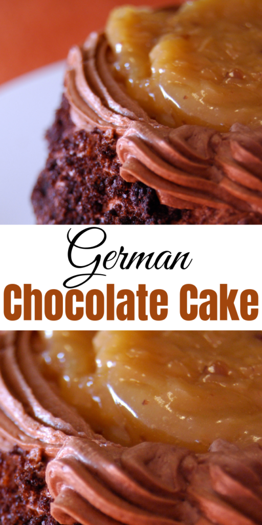 German Chocolate Cake Recipe - German chocolate cake is the common name of an American cake that was originally known as German's chocolate cake. The cake is a layered, chocolate cake filled and topped with a coconut-pecan frosting. #recipe #cake #GermanChocolate #dessert #chocolate #holidays #holidaybaking #birthdaycake #Germanchocolatecake #sweets #recipes #food