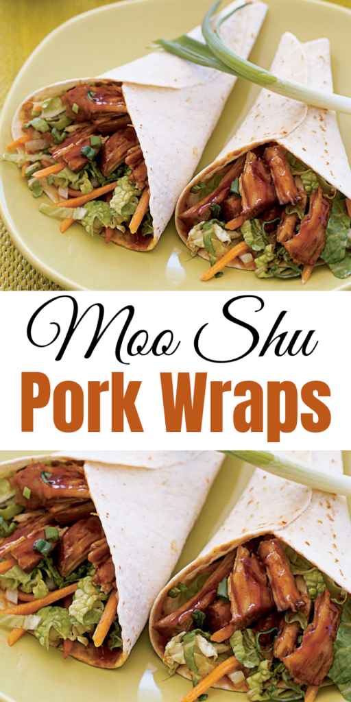 Moo Shu Pork Wraps - Moo Shu Pork Wraps make an exotic appetizer or party food. Combine rich fragrance and variety of textures. Savor every bite of this Chinese cuisine food. #chinesefood #chinese #chineserecipes #ww #weightwatchers #weightwatchersrecipes #smartpoints #pointsplus #takeout #copycat #pork #mooshupork #mushupork #charsiu #easyporkrecipes #porkrecipes #porktenderloin #porkstirfry #garlic #ginger