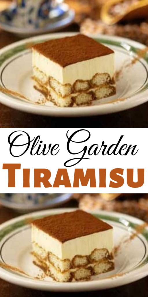 Olive Garden Tiramisu - The classic Italian dessert. A layer of creamy custard set atop espresso-soaked ladyfingers. #tiramisu #cake #copycat #olivegarden