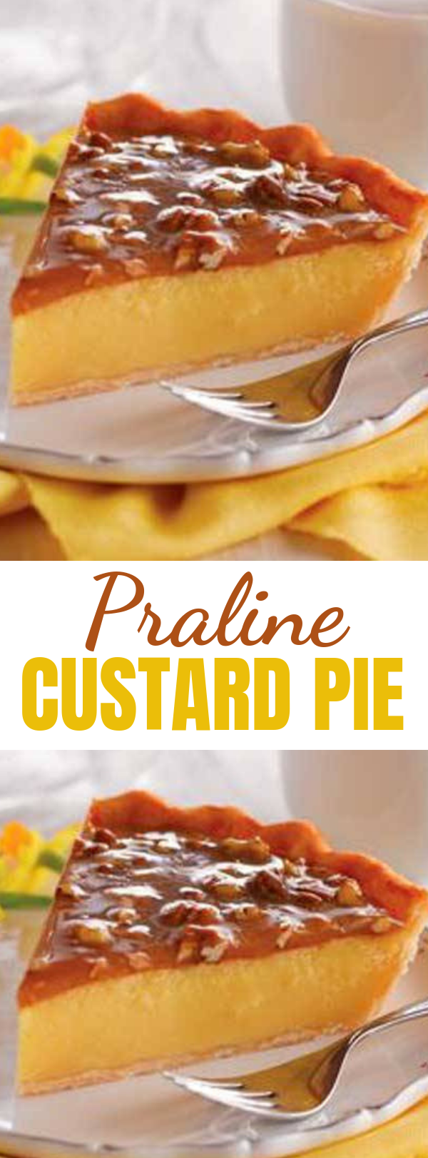 Praline Custard Pie - After the feast, after round two, before the coma: Would you like a slice of pie? #pie #pralinepie #custardpie #praline