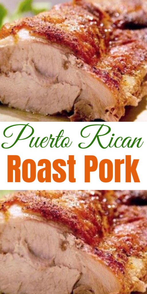 Puerto Rican Roast Pork Recipe This is a super simple, very flavorful way to make your next pork roast. The rub for this Puerto Rican Roast Pork can even be made days ahead of time! #roastpork #pork #dinner #recipe
