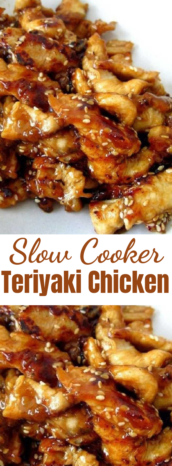 Slow Cooker Teriyaki Chicken - Serve this Slow Cooker Teriyaki Chicken over rice, you don't want any of that delicious, sticky sauce going to waste. And because we are all trying to be healthier this time of year make sure to serve lots of fresh stir fried vegetables on the side. #slowcooker #crockpot #teriyaki #chicken #dinner