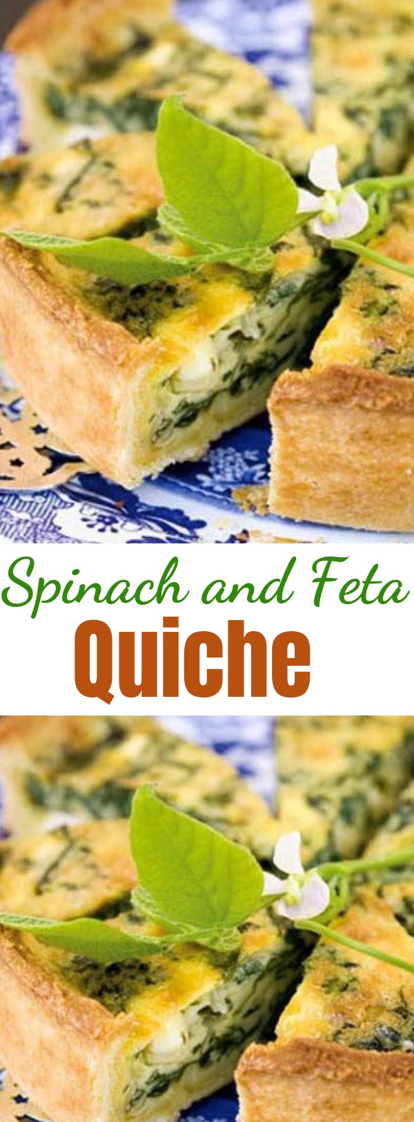 Spinach and Feta Quiche - Quiche is great for any meal: breakfast, lunch or dinner. It is a great recipe to turn to when you do not have a lot of time to spend in the kitchen. You can assemble a quiche in a matter of minutes, and the tasty results will never give away how effortless it was. #quiche #breakfast #spinach #feta