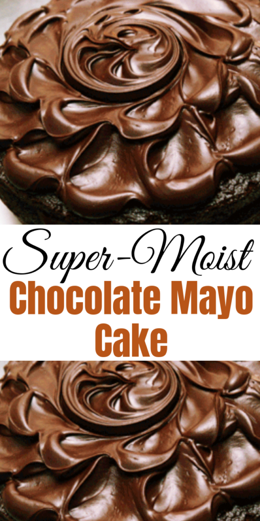 Super-Moist Chocolate Mayo Cake - This Super-Moist Chocolate Mayo Cake was superb in its appearance but that pales in comparison to the flavor. Moist; the antithesis of a grocery-store-dried-out-stale cake. Skip picking up a sheet cake and make your own I say; and make a mayo cake! It is decadent like a wedding cake. Made with love. Recipe dates back to World War II. #chocolatecake #mayocake #oldfashionedchocolatemayonnaisecake #cake