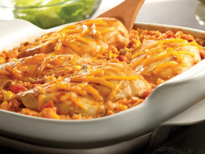 Tex Mex Chicken and Rice Bake Recipe