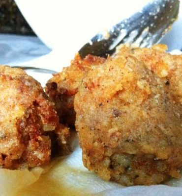 Louisiana Boudin Balls   It's one of the most delicious things we have in Louisiana. You can certainly eat it all alone, but these Louisiana Boudin Balls make great appetizers, or they'll work as a side to another dish. #cajunfood #southerncooking #cajunrecipe