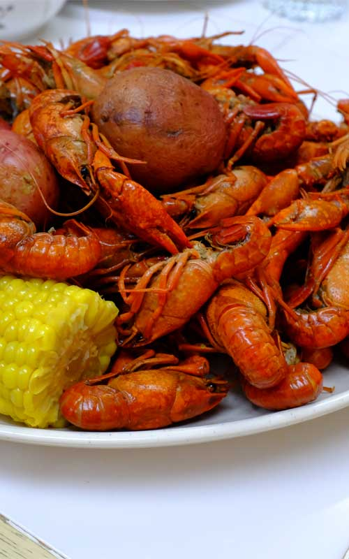 New Orleans Crawfish Boil | There are plenty of ways to enjoy crawfish, but if you want to be a purist, getting elbow-deep into a spicy New Orleans Crawfish Boil is definitely the way to go! #crawfish #crayfish #cajun #crawfishboil #summer #neworleans #louisiana