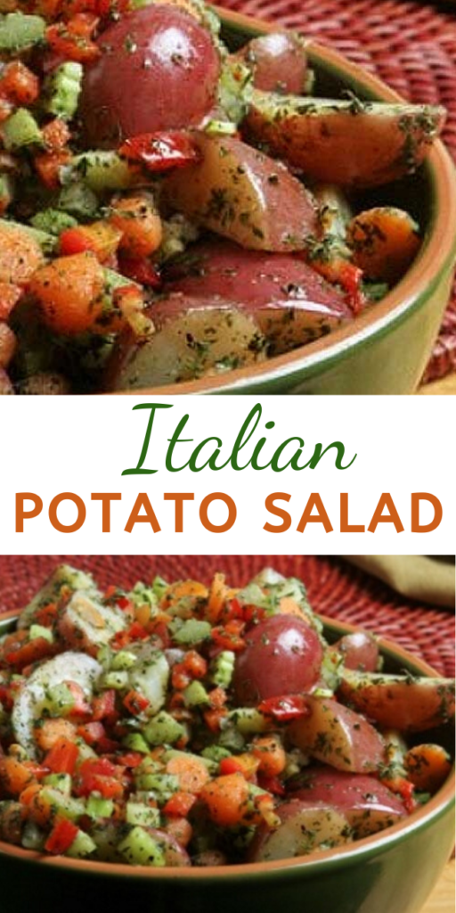 Italian Potato Salad - Recipe for Italian Potato Salad – This delicious Italian Potato Salad can be served as a great side dish or for parties, picnics or barbecues. This dish is full of vegetables and flavor. #italiansalad #saladrecipes #potatosalad #potatosaladrecipe