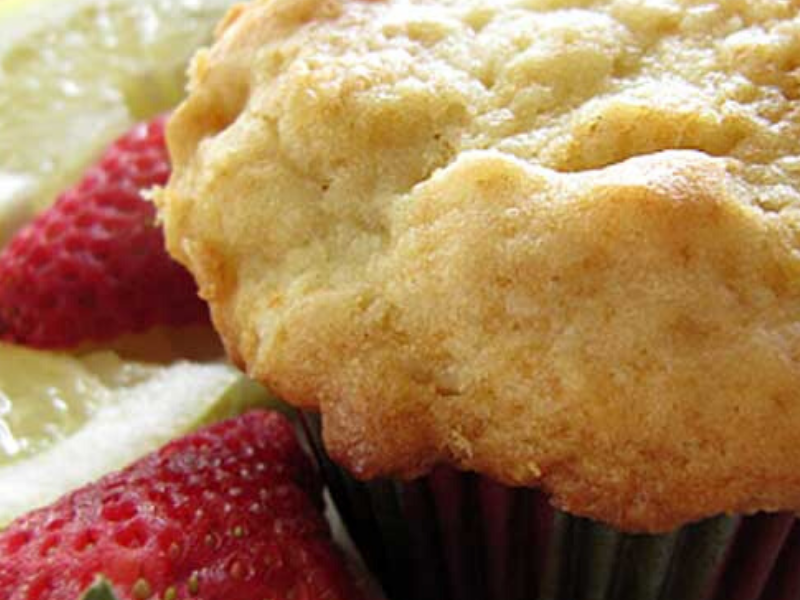 Strawberry Lemon Buttermilk Muffins