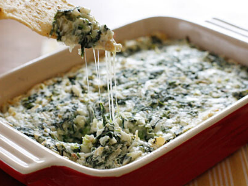 Lighter Hot Spinach and Artichoke Dip