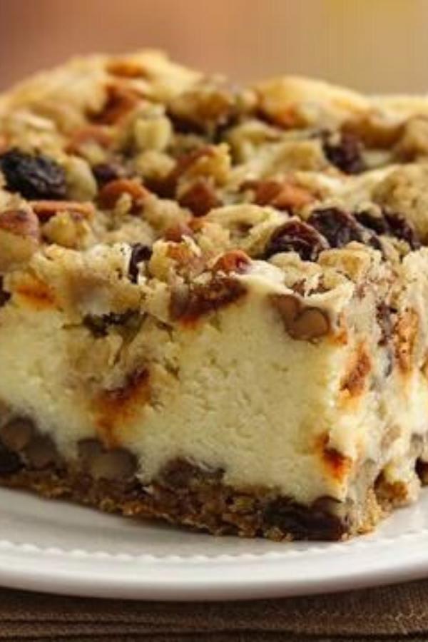 Recipe for Oatmeal Raisin Cheesecake Crumble – Pillsbury Bake Off Finalist Maurice Chinn, Brunswick, GA, Bake-Off Contest 44, 2010