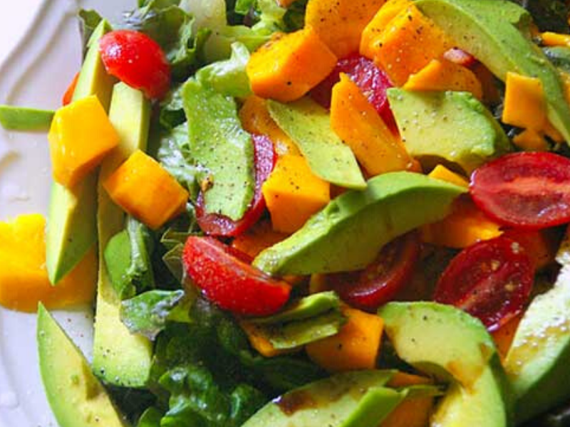 Avocado Mango and Tomato Salad