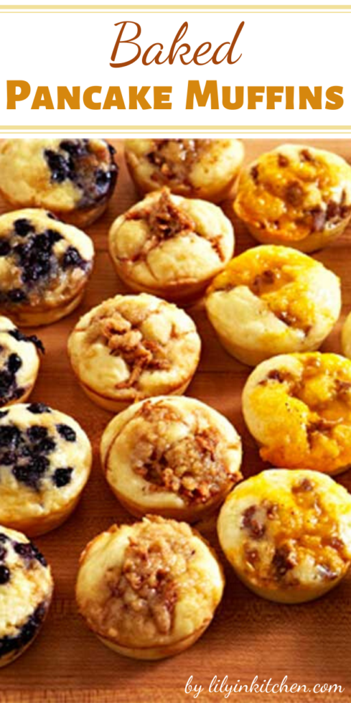 A great make-ahead recipe for easy snacking, breakfast on the go, or packed with a side of maple syrup, these Baked Pancake Muffins are ideal for school lunches. Customize the add-ins to suit your family's tastes.
