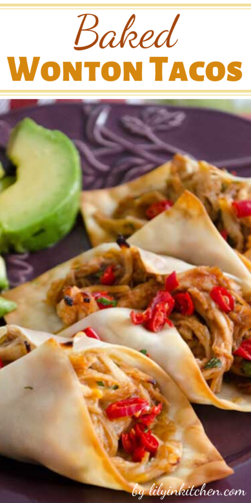 Recipe for Baked Wonton Tacos – When I saw that you can use wonton skins to make little tacos, I immediately experimented with the idea. These little tacos are bite sized yummy goodness. I'll tell you. They make a great appetizer… and also a great, light lunch!