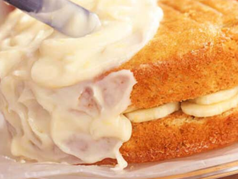 Banana Layer Cake with Lemon Cream Cheese Frosting