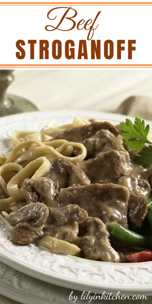 Named after 19th century Russian diplomat Count Paul Stroganov, this dish consists of thin slices of tender beef (usually tenderloin or top loin), onions and sliced mushrooms, all quickly sautéed in butter and combined with a sour cream sauce.