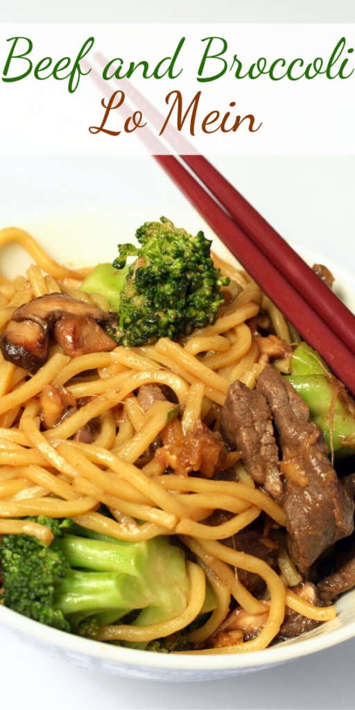 Recipe for Beef and Broccoli Lo Mein – No need to get take out when this is so fast and easy to make at home!