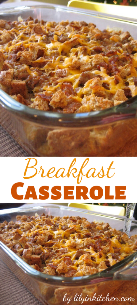 This super easy and budget friendly breakfast casserole is loaded with potatoes, sausage, AND cheese! They are going to have trouble controlling themselves when this is on the table.