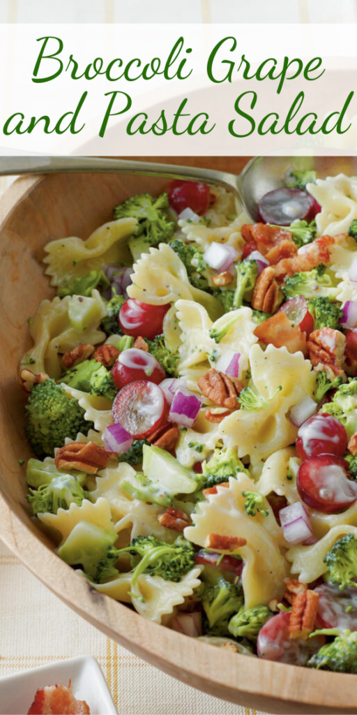 Recipe for Broccoli Grape and Pasta Salad – If you're a broccoli salad fan, you'll love the combination of these colorful ingredients.