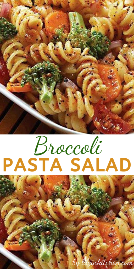Recipe for Broccoli Pasta Salad – This is a great recipe to make for BBQs, picnics, or any other gathering. Everyone is sure to love it, and you will like how easy it is to make!