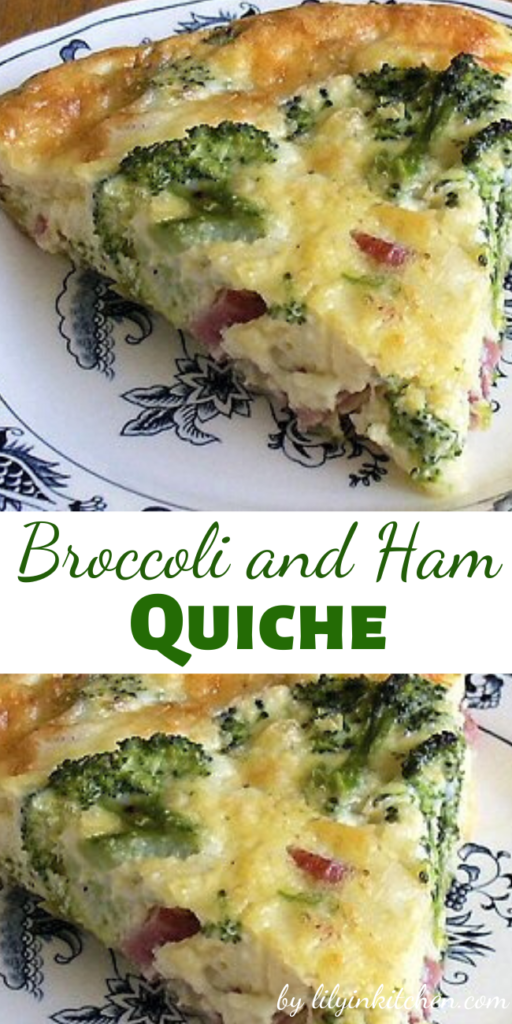 Recipe for Broccoli and Ham Quiche – Now we think of all the ways we can use up that leftover ham, brunch anyone.. really good for dinner as well!!