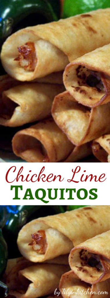 Recipe for Chicken Lime Taquitos – These are absolutely to die for!!! They are not your ordinary taquitos.