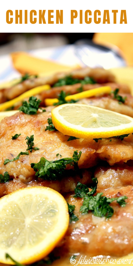 I LOVE chicken piccata, but Im often disappointed with recipes I try at home. This one is the exception! Pan-fried chicken breast medallions get a light, fresh lemon-butter sauce with capers and parsley.
