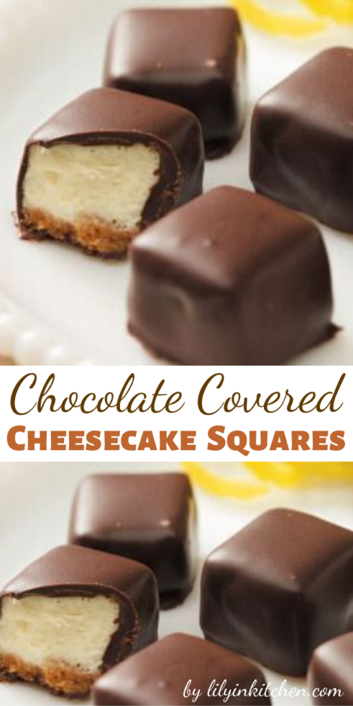 Satisfy your cheesecake craving with these bite-sized treats. Dipped in chocolate, these sweet, creamy delights are party favorites. But be warned…you won't be able to eat just one!