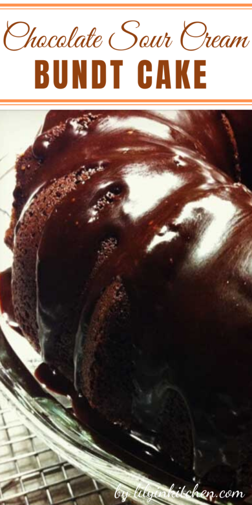 Recipe for Chocolate Sour Cream Bundt Cake – The cake I crave is not a cake that's saturated in chocolate frosting. I'm talking about a dense/moist/slightly chewy chocolate cake with a few drizzles of chocolate frosting.