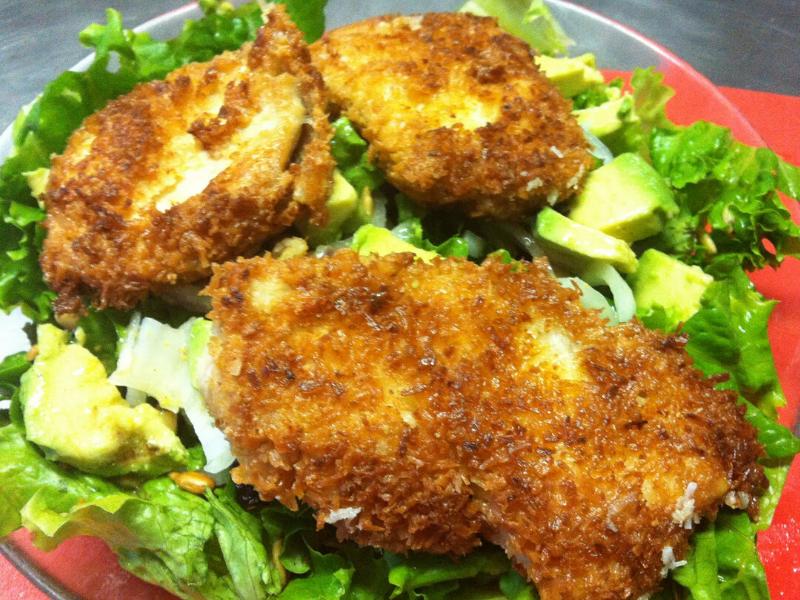 Coconut Crispy Chicken Salad