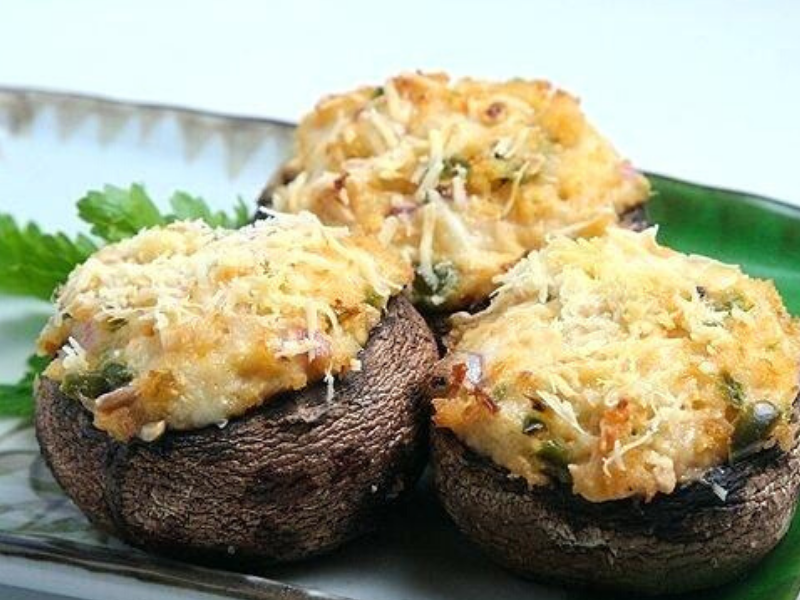 Copycat Olive Garden Stuffed Mushrooms