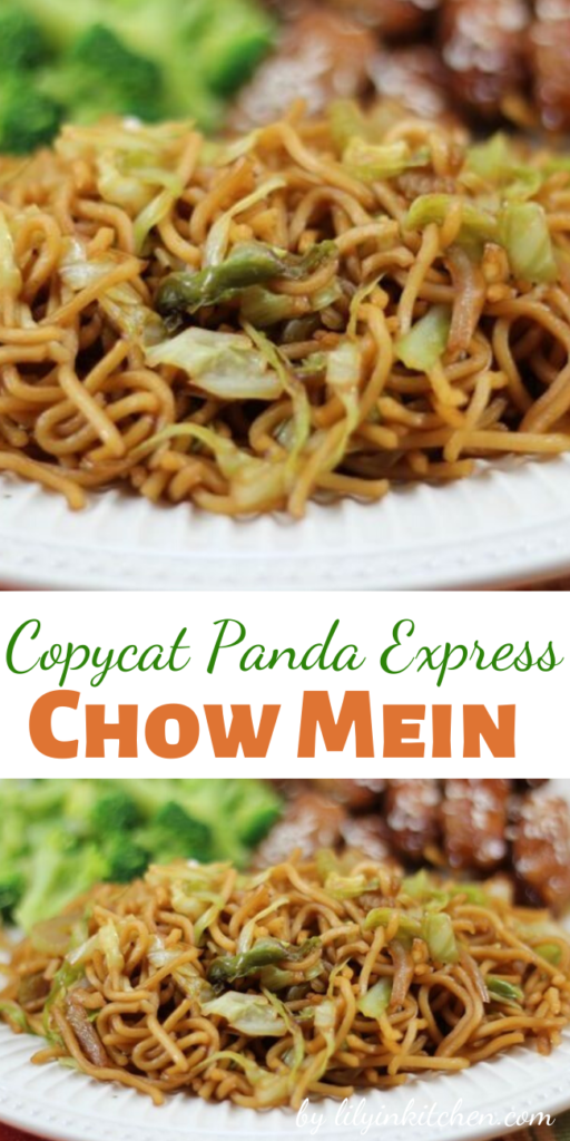 I just made this tonight and it was wonderful! It's absolutely similar to the Panda Express version which is great because I don't like the chow mein everywhere I go.