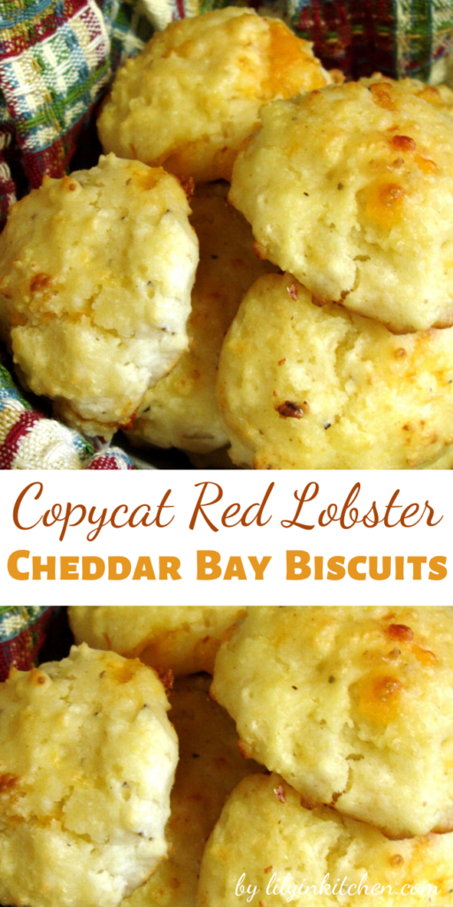 Recipe for Copycat Red Lobster Cheddar Bay Biscuits – These taste just like the ones that Red Lobster serves and they are so awesome!