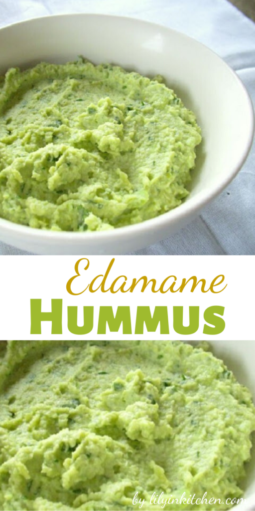 Recipe for Edamame Hummus – This hummus recipe is so easy, and good for you…that you just might over do it!