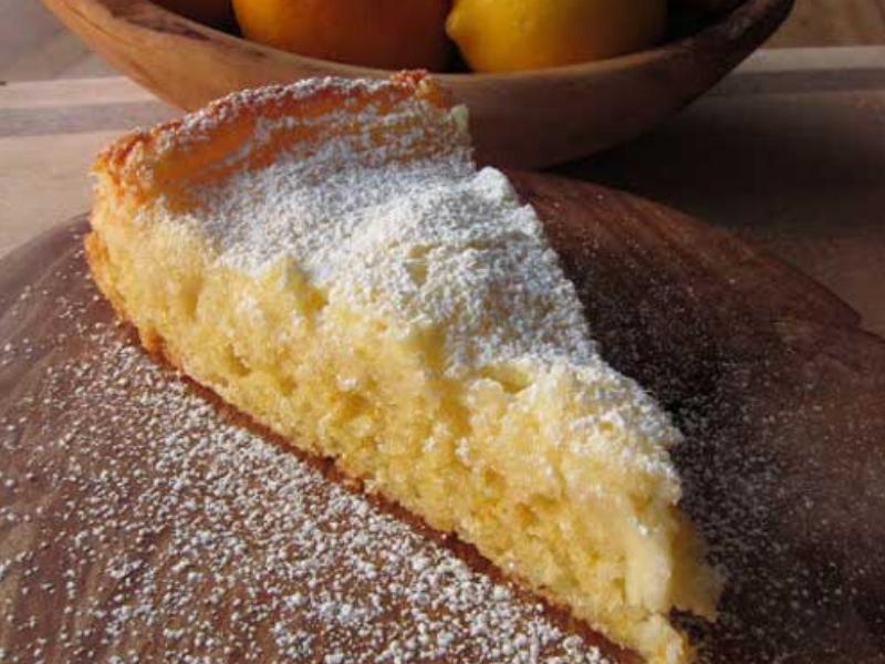 Gooey Meyer Lemon Butter Cake