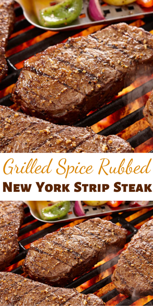 Recipe for Grilled Spice Rubbed New York Strip Steak – Grilling up a juicy steak couldn't get any easier or more flavorful! This is how we always make them at our house, and everyone loves them.