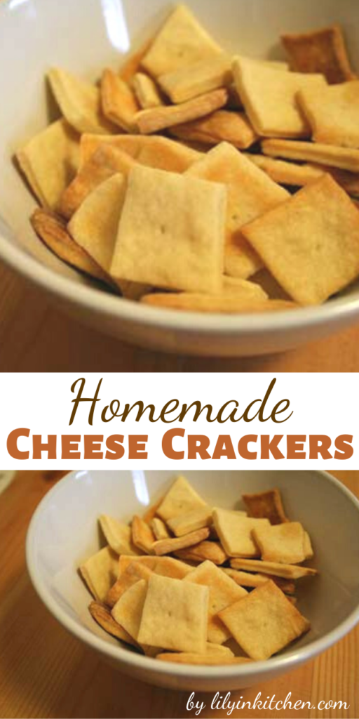 These Homemade Cheese Crackers are surprisingly easy to make, and I was impressed by how much like Cheez-its they taste. The hardest part was definitely rolling the dough thin enough to produce a sufficiently crispy cracker.