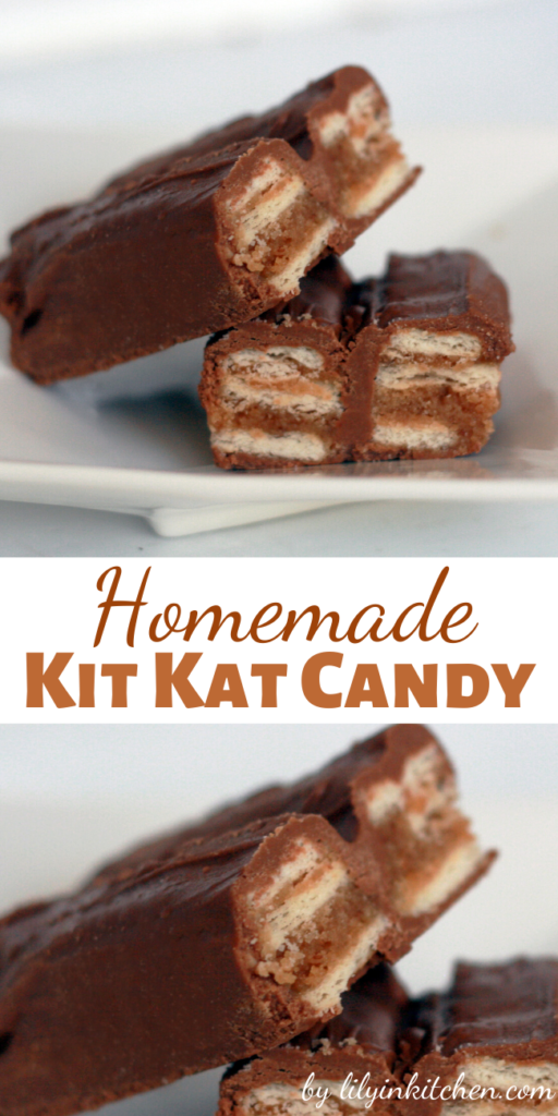 These homemade Kit Kat candy bars taste amazingly like the real thing. You won't find a better copycat recipe anywhere! If you're a Kit Kat fan, you have to try this!