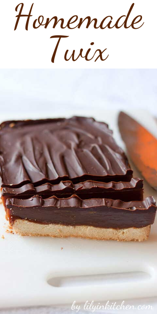 I love Twix candy bars, but I'm not crazy about all the additives. This recipe is like Twix candy bar goes gourmet, but super easy to make. In fact, it's probably the easiest copycat candy bar recipe I've made!