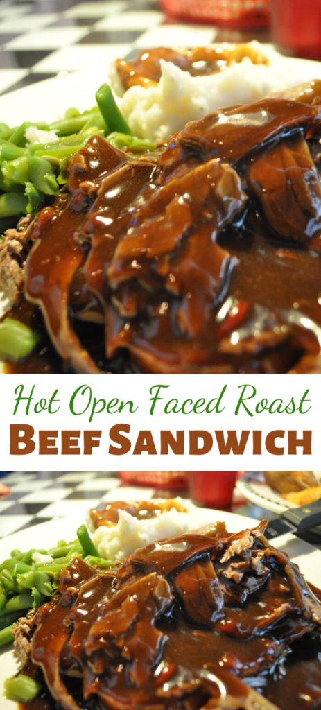 Good way to use leftover pot roast beef and gravy! Note that this recipe makes four sandwiches with two slices of meat per sandwich, or depending upon how much meat and gravy you wish to use.