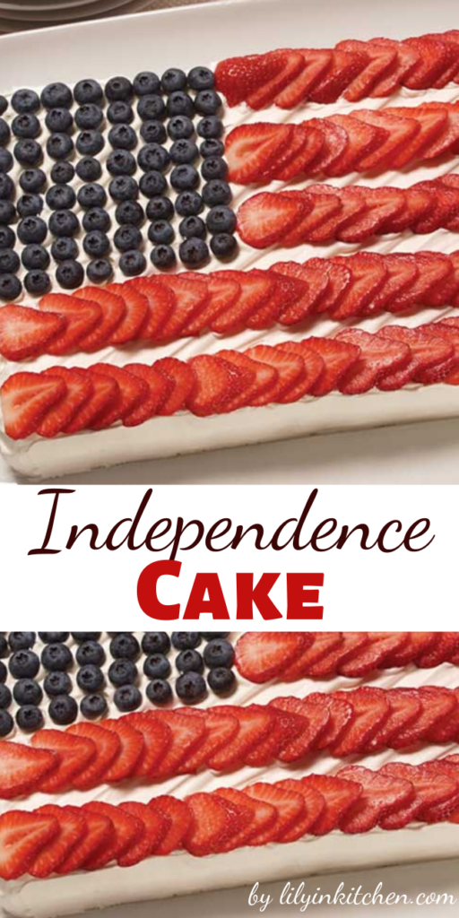 No Fourth of July party is complete without a centerpiece. This cake would be perfect, AND it's delicious too!