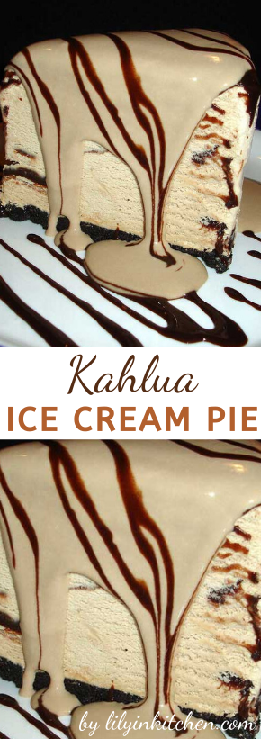This Kahlua Ice Cream Pie makes me want to throw a party, just so I can serve this to all my guests and watch their jaws drop with OMG!!